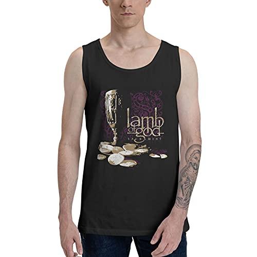 CAPUSTO Lammb of God Tank Top for Men, 3D Print New Dads Sleeveless Top Tees, Man's Workout Quick Dry Tank Tops 3X-Large Black