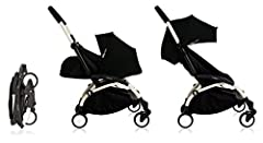 Fully reclined newborn nest with 5-point harness Exclusive pop-up canopy with 3 positions Includes a foot cover and a newborn head support Removable and washable fabrics Multi-position reclining seat