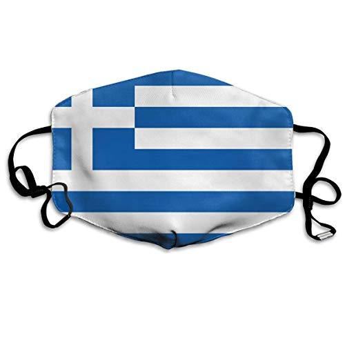 Multifunktionale Gesichtsschutzhülle,Blaue Und Weiße Streifen Griechische Flagge Unisex Waschbar Wiederverwendbare Gesichtsdekorationen Für Den Persönlichen Schutz