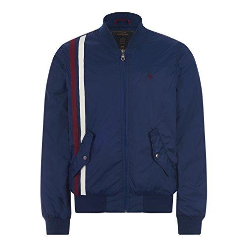 Merc Clothing lan Racer Stripe Jacket Navy M