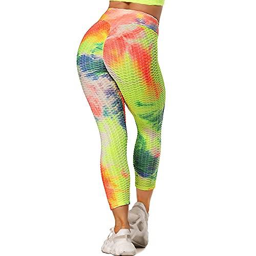QTJY Leggings para Mujer, Pantalones de Yoga para Ejercicio de Abdomen con Flexiones, Pantalones de Fitness para Levantamiento de Cadera de Cintura Alta EL
