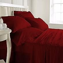 Precious Star Linen Hotel Quality 800TC Zipper Closer 3pc Duvet Cover Set Solid/Plain Super King (98 x 108) Size 100% Egyptian Cotton, (Burgundy)
