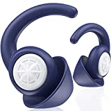 Silicone Ear Plugs for Sleeping - BUENSUENO 2 Pairs Reusable Washable Earplugs for Sleep, Work,Swimming, for Noise Cancelling, Sound Blocking Sleeping, Concert (Blue)