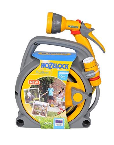 Hozelock - Carrete portamangueras Pico Reel con 10 m de manguera y todos los accesorios - lista para su uso
