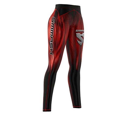 SMMASH X-WEAR Damen Leggings Sport Lang mit Muscle Muster, Fitnesshose Blickdichte, Sporthose für Joga, Crossfit, Gym, Fitness, Thermo Laufhose, Atmungsaktiv Trainingshose, Jogginghose