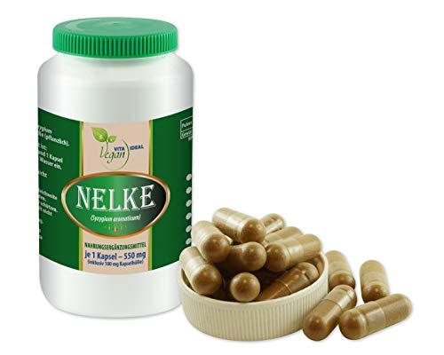 VITAIDEAL VEGAN® Gewürz - NELKEN (Syzygium aromaticum) 60 pflanzliche Kapseln je 550mg, rein natürlich ohne Zusatzstoffe.