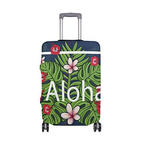 ALINLO Aloha cubierta de equipaje con estampado floral para maletas de 18 a 32 pulgadas
