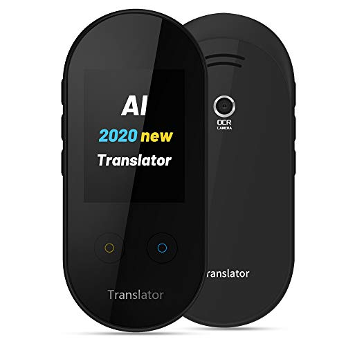 ANFIER Language Translator Device with Offline Translation, AI Voice Translator(W08) with 2.4 inch Touchscreen Image Translation-108 Languages and Two Way Translator  Wi-Fi -Black