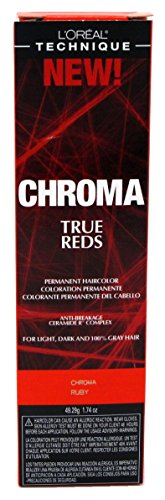 Loreal Chroma True Reds Hair Color - Ruby 1.74 Ounce (51ml) (2 Pack)