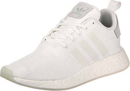 adidas NMD_r2, Zapatillas de Gimnasia Hombre, Blanco (FTWR White/FTWR White/FTWR White), 36 2/3 EU