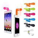 Love shops 2-in-1 Mini Cell Phone Fan for iPhone/iPadand Android Color:Quantity:6