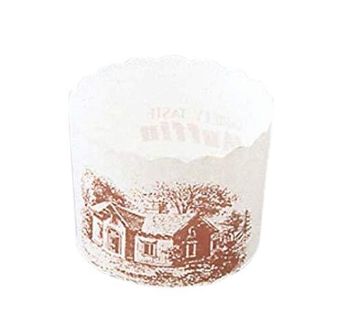 アズワン マフィンカップ ハウス柄(100枚入)白 M-405/61-6693-22