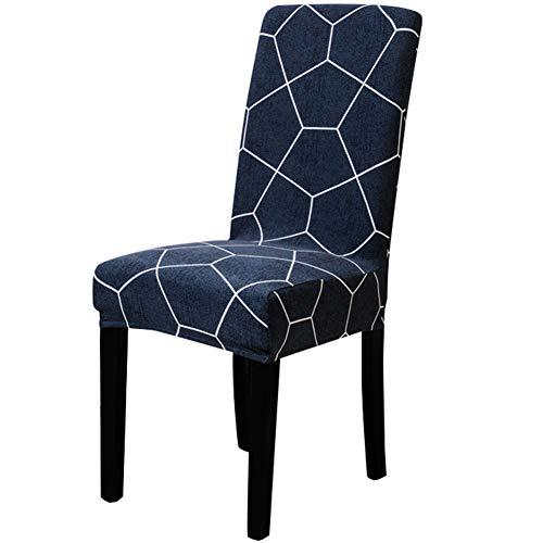 GODGETS Fundas de Silla de Comedor Elásticas y Modernas, Extraíbles y Lavables, Fundas de Licra para sillas Altas 1 4 6 Piezas Fundas Protectoras para sillas,Color 20,Set de 4 Piezas