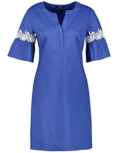 Taifun Damen 380028-11090 Kleid, Blau (True Blue 80021), 44