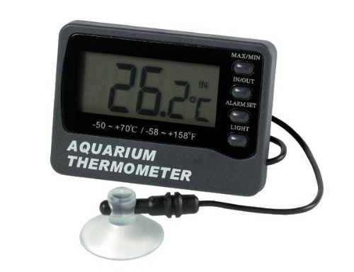 ETI Aquarium thermometer with max/min and temperature alarm - displays tank water and room...