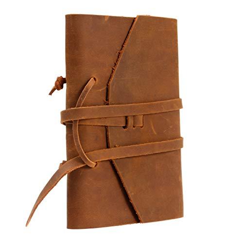 TOYANDONA 1Pc Cuaderno Encuadernado A5 Diario de Cuero Punteado Diario de Escritura Antiguo Clásico Bloc de Notas Diario para Uso Diario Cuaderno de Bocetos de Arte Viajes