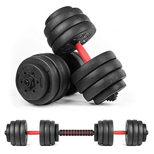 Juego de mancuernas ajustables de 60 libras con pesas para gimnasio en casa y pesas de entrenamiento muscular, dispositivo de fitness para el hogar