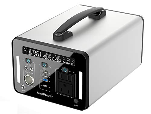 MaxPower ポータブル電源 PL1000J Ver.2 AC1000W ファンレス仕様 超大容量 270,000mAh 1000Wh 総出力1250W 家庭用蓄電池 純正弦波 PSE認証済 ソーラー充電 ACコンセント(1000W 定格) DC 12