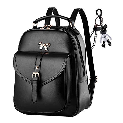 AINUOEY Damen Rucksackhandtaschen Elegant Anti Diebstahl Frau Damenhandtaschen Stadtrucksack Henkeltaschen Schwarz V1
