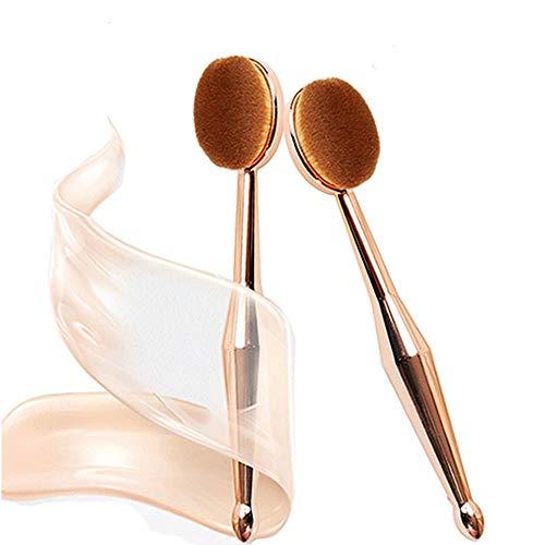 WSERE 2 Pièces Brosse à Dents Curve Maquillage Outils pour Makeup Brush,Correcteur Mélange Blush Liquid Powder Cream Cosmétique Brosses
