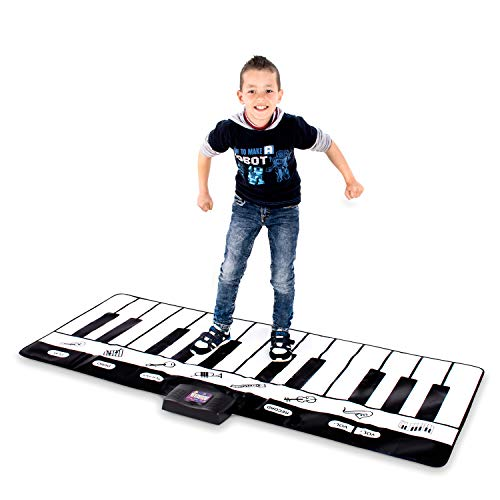 Abco Tech Giant Piano Mat - Jumbo Floor Keyboard with Play, Record, Playback and Demo Modes - New Look - 8 Different Musical Instruments Sound Options - 70in Play Mat - 24 Keys (Standard)
