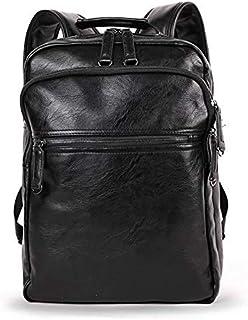 Men backpack PU shoulder bag High-grade school bag leather travel bag Leisure package laptop bag