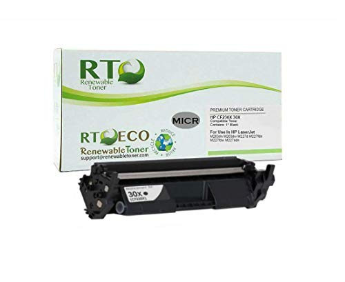 Renewable Toner Compatible MICR High Yield Toner Cartridge Replacement for HP 30X CF230X Laserjet Pro M203, M227�