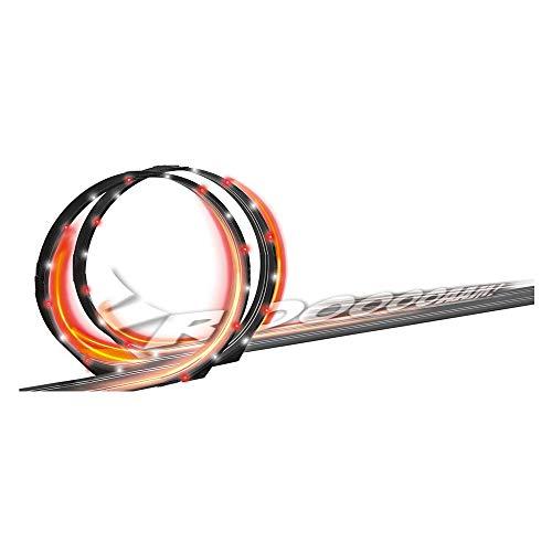 Carrera GO!!! No Limits Rennstrecken-Set | 8,9m elektrische Rennbahn mit Ferrari SF71H & Mercedes-AMG F1 W09 EQ Power+ & GO!!! Licht und Sound Looping Set 20061661 Erweiterungsartikel