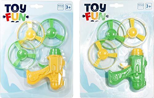 Toys of Tun Pistolet toupie Volante 2 Couleurs