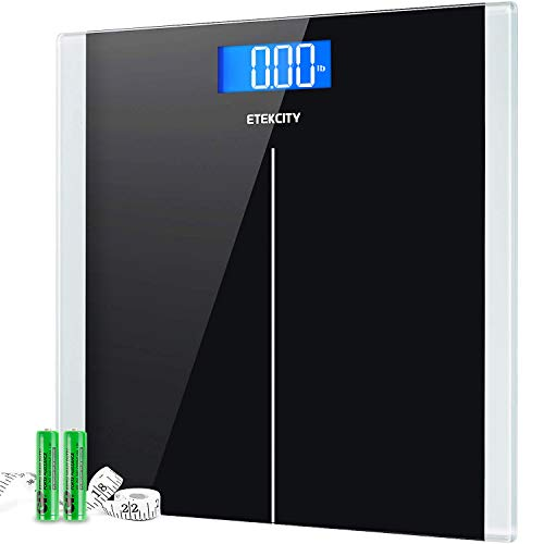 Etekcity Digital Body Weight Bathroom Scale with Step-On Technology, 400 Lb, Body Tape Measure...