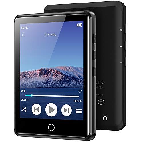 MP3-Player mit Bluetooth 5.0, 2,8-Zoll-Touchscreen-16-GB-MP3-Player, verlustfreier HiFi-Musikplayer in Klangqualität, integrierter Lautsprecher, FM, Aufnahme, E-Book, erweiterbar auf 128 GB