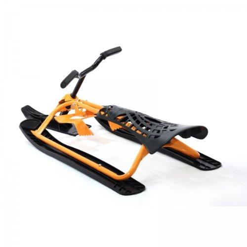 Baby Vivo 4260196242219 - Snowbike, Slittino da neve per bambini, con manubrio, freni e sospensioni, colore: Giallo/Nero