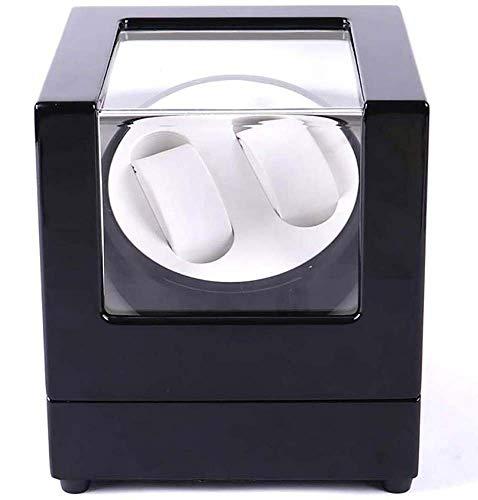 Automatik-Uhrenbeweger Aus Holz Für Automatikuhren Mit Leisem Motor, Drehbarer Uhrenbox Für Damen Und Herren - Piano Weiß Und Schwarz