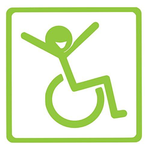 【全16色】車椅子マーク/車イス サイン/カー ステッカー/Car/リラックス/車用/シール/Vinyl/Decal/バイナル/デカール/-2 (ライムグリーン) [並行輸入品]