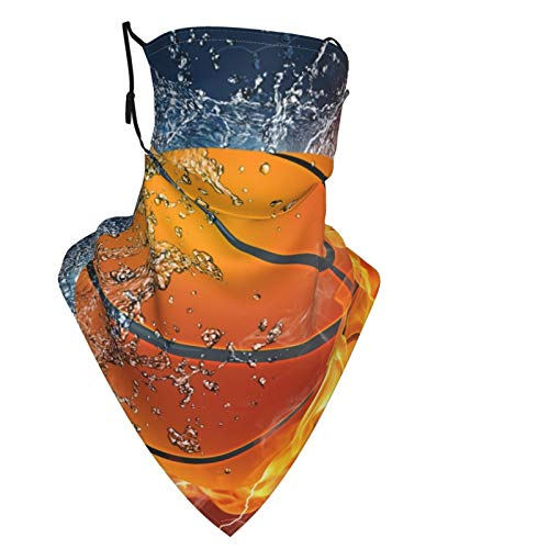 Baloncesto de fuego reutilizable para hombres y mujeres, bufanda de moda para la cabeza, pasamontañas, bucles para las orejas, polainas para el cuello, para exteriores, deportes