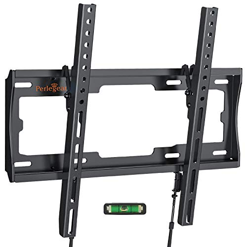 Perlegear Supporto TV Inclinabile - Staffa da Parete per TV da 26'-55', Max VESA 400x400, Staffa Ultra Resistente 45kg