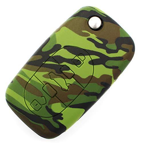 Llave Móvil AA para 3botones llave de coche silicona Cover–Finest de Folia funda carcasa llave móvil camuflaje
