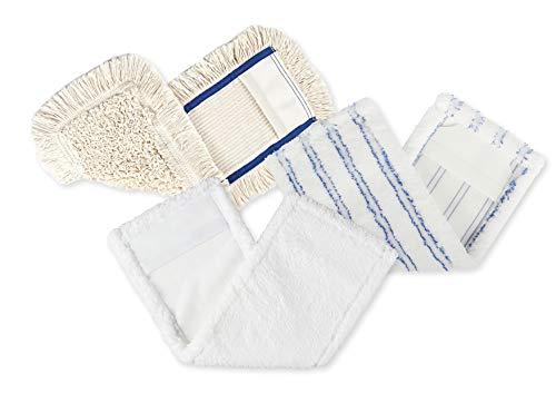 BELLANET 3er Set Hochwertige Microfaser Wischbezüge 40cm Mix, Plüsch & Baumwolle