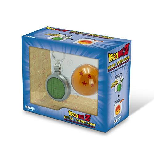 ABYstyle - Dragon Ball - Caja de Regalo con emblemas - Llavero Radar + Bola de Cristal