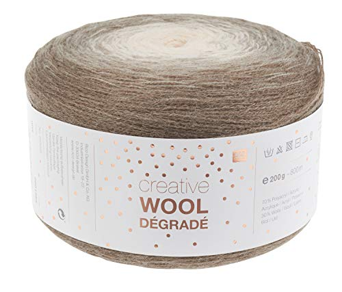 Rico Wolle Creativ Wool Dégradé 200g 4-fädig Natur