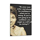 rongtao Aretha Franklin Leinwand-Kunst-Poster und