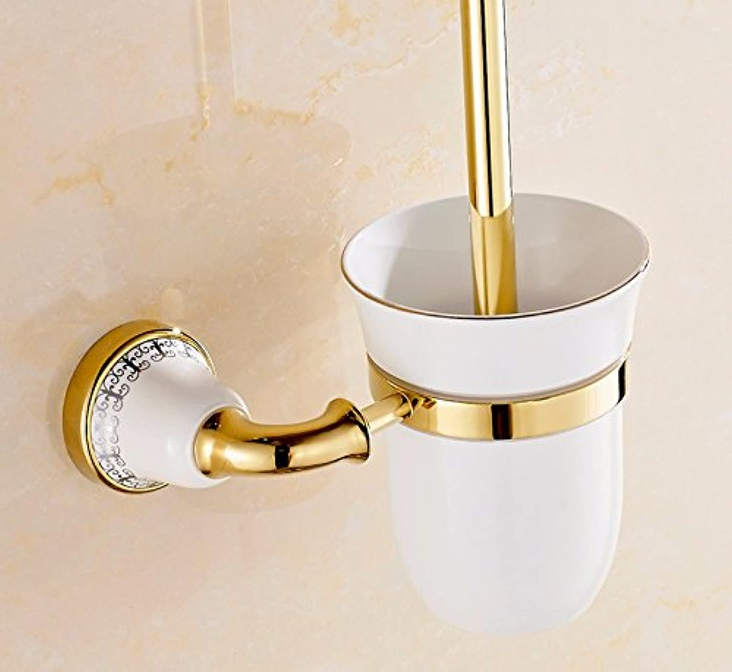 Lx.AZ.Kx Toilet Brush and Holder with long handle for Bathroom Toilet bluee-Tiled?The Bathrooms?Hardware?Continental?The gold Antique?The gold