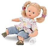 Götz 2120944 Muffin Minimaxi Puppe - 33 cm große Babypuppe mit blauen Schlafaugen, Blonde Haare und Weichkörper - Weichkörperpuppe in 8-teiligen Set