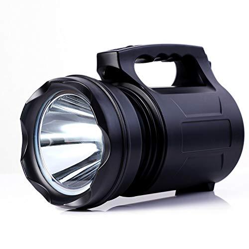 Alflashh Taschenlampe, superhell, wiederaufladbar, 10000 Lumen, 15000 mAh, wasserdicht, leistungsstark, 2
