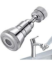 Kraan Beluchter, 720 Graden Draaibare Waterkraan Sproeikop, Anti-Splash Waterkraan Filter Faucet, Perlatoren voor Kranen(22 mm Binnendraad/24 mm Buitendraad)