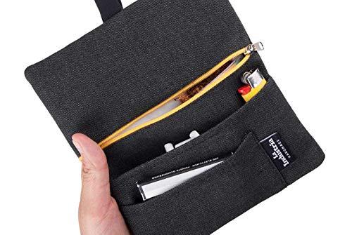 Tabaktasche Tabakbeutel 'Vulcano' - Drehertasche mit Fächern für Filter, Blättchen und Feuerzeug