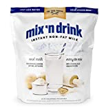 SACO Mix 'n Drink Instant Skim Milk, Fat-Free, GMO-Free, Gluten-Free, Nut-Free, rBST Free, High Calcium and Protein, Makes 10 Gallons
