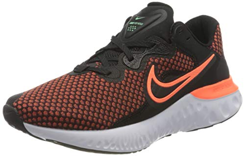 Nike Renew Run 2, Zapatillas para Correr Hombre, Black Hyper Crimson Chile Red Green Glow White Dk Smoke Grey, 43 EU