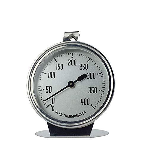 Kife Horno de Acero Inoxidable Herramientas para Hornear termómetro Tipo Puntero casero termómetro para Hornear de Alta Temperatura Tipo Colgante