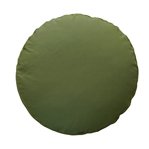 fabrizm 日本製 クッションカバー 65丸 直径65cm 用 オックス モスグリーン 1368-gr